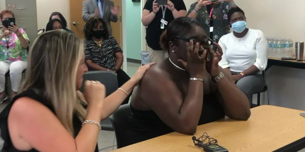 'We're so happy': 19-year-old adopted by caseworker after aging out of system