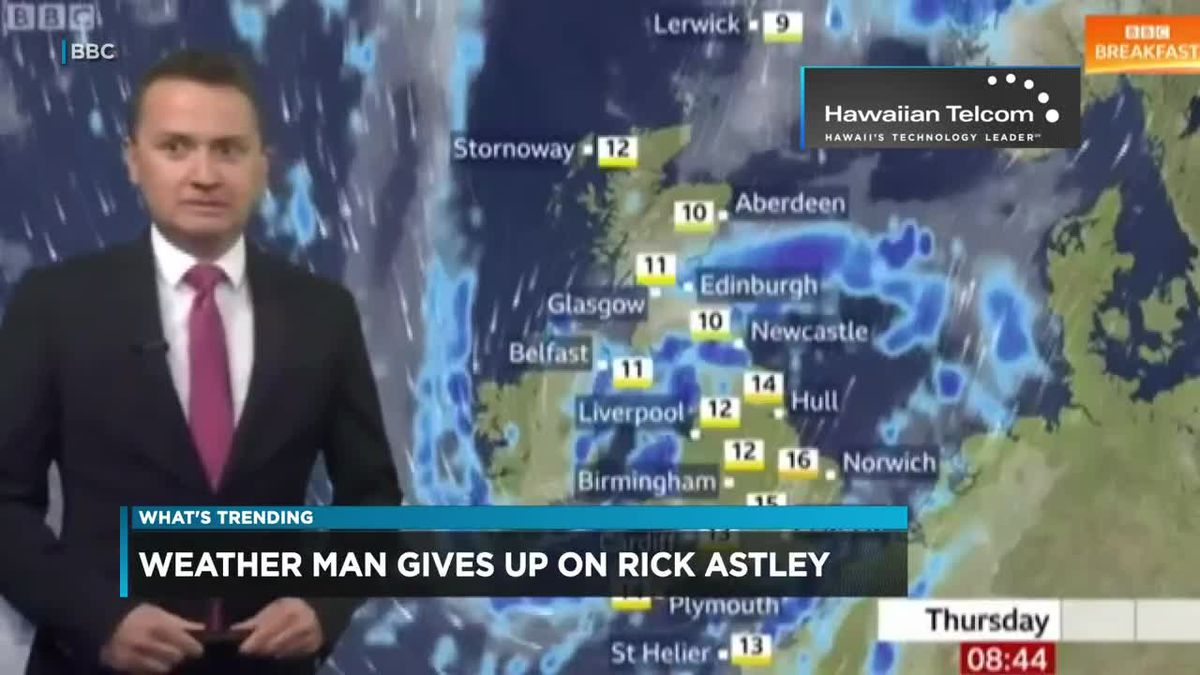 What's Trending: A wonderfully awkward moment with Rick Astley