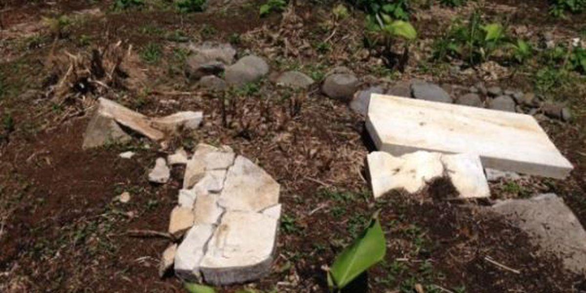 Landowner faces fine for allegedly damaging historic Hilo cemetery
