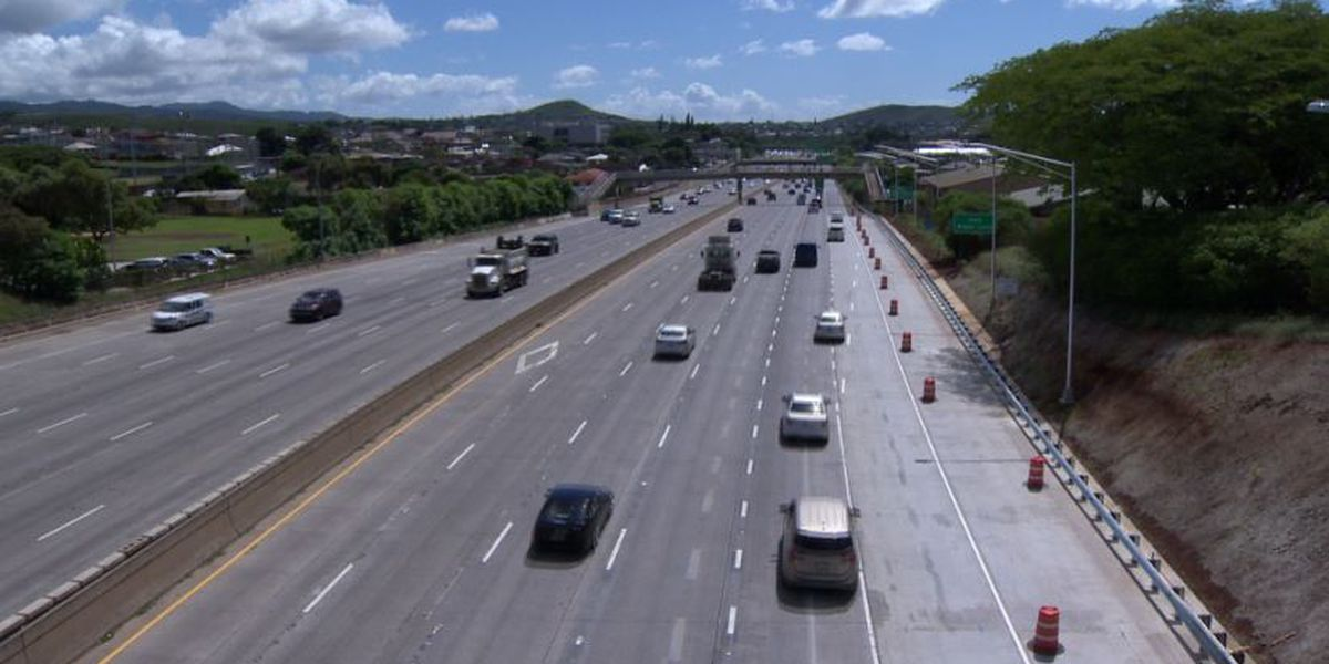 Work to widen the H-1 freeway shoulder in Aiea completed ahead of schedule