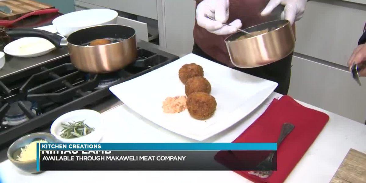 Kitchen Creations: Niihau lamb arancini/ fried risotto balls