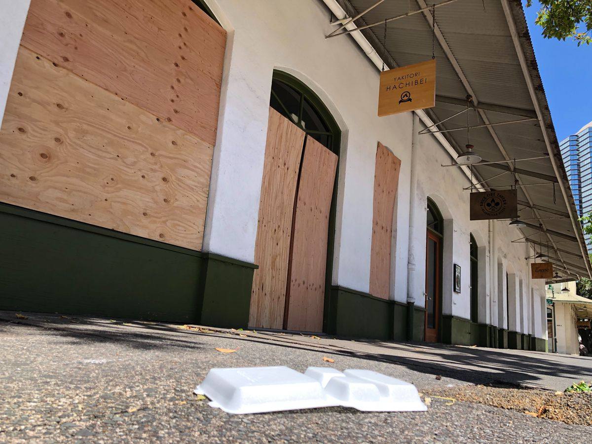 PHOTOS: Empty streets, boarded up shops tell pandemic's story in Hawaii