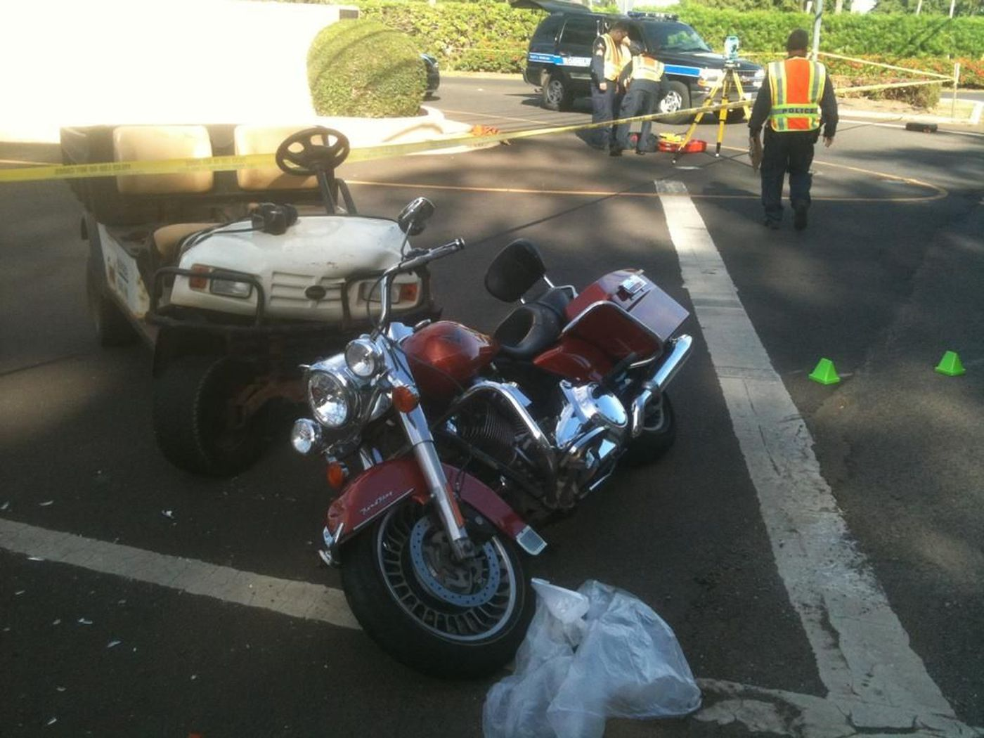 Two hospitalized in motorcycle crash near Turtle Bay