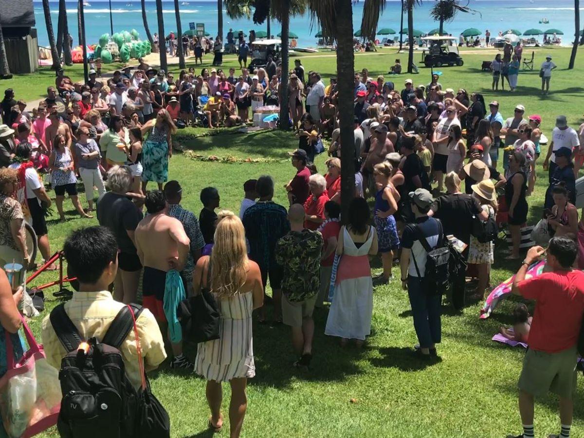 A Waikiki memorial service honored the life of bounty hunter