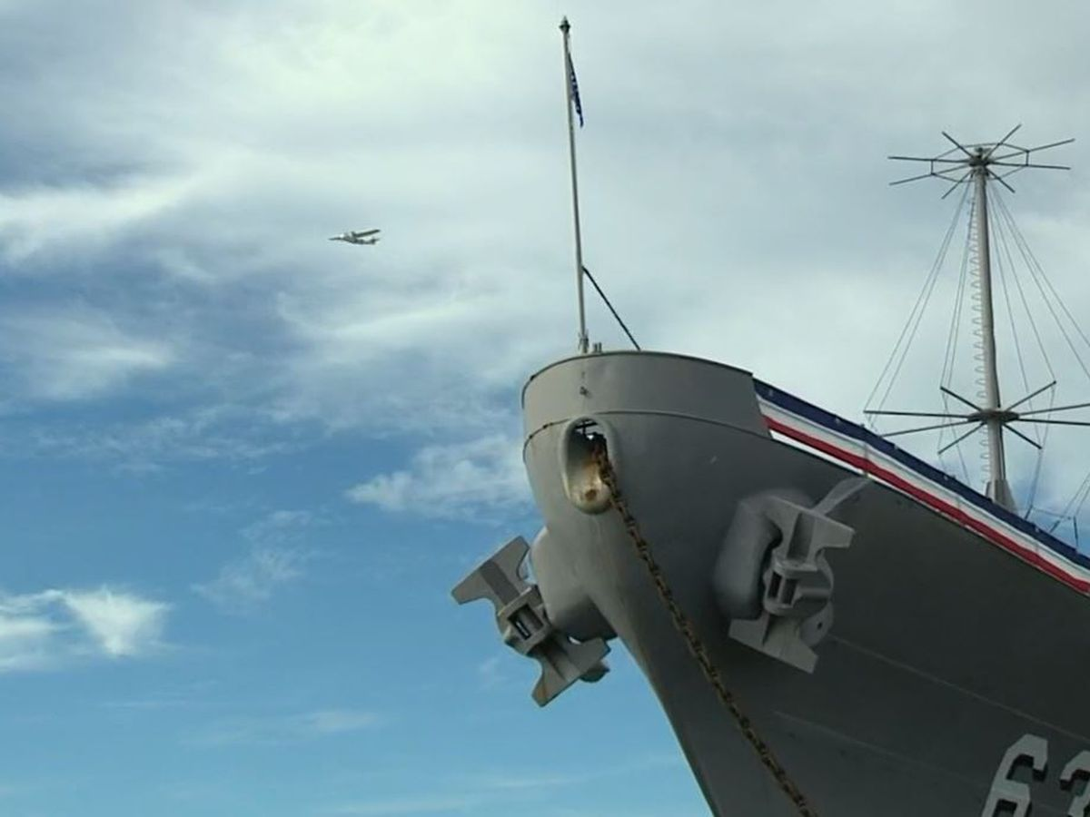 PHOTOS: Ceremony aboard USS Missouri marks 75th anniversary of end of WWII
