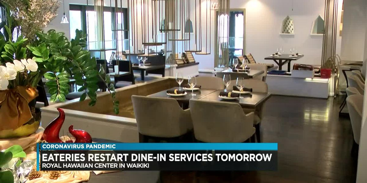 Oahu restaurants reopen for dine-in services Friday. Here's how they're preparing