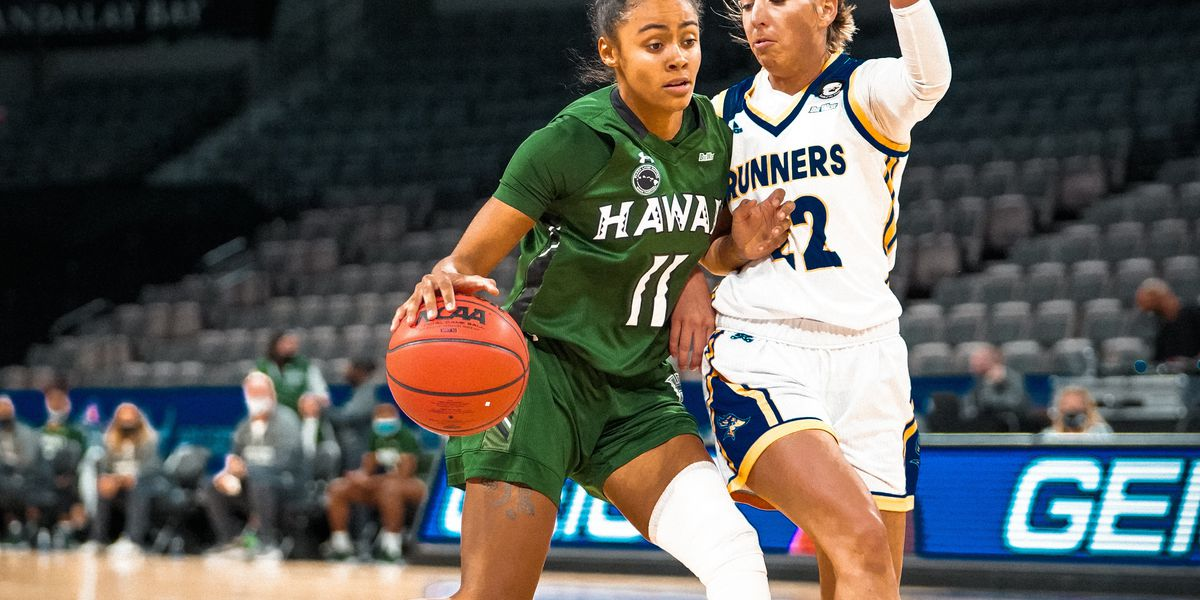 Wahine basketball down the Roadrunners to advance to Big West Semifinals in Las Vegas