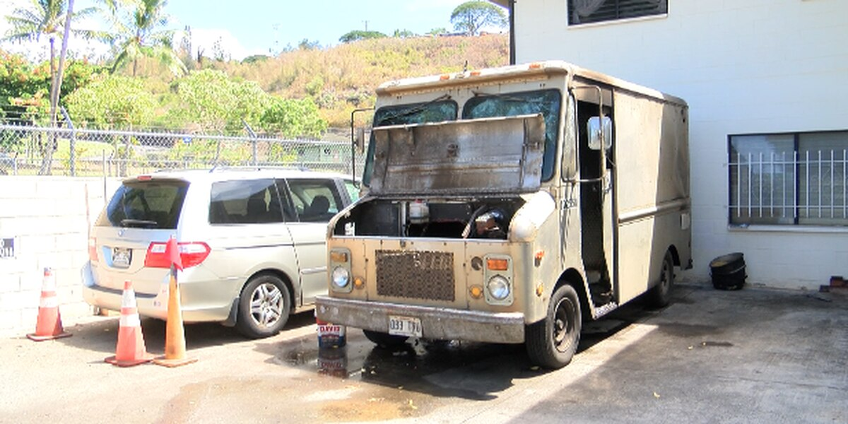 Community helps manapua man after truck catches fire