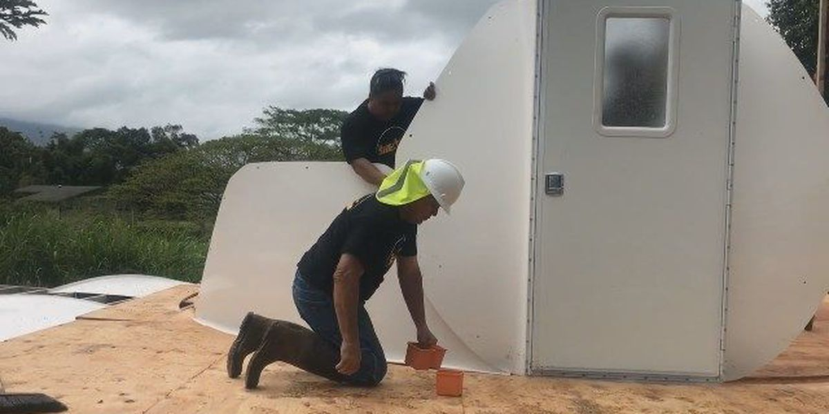 After years of debate, construction on homeless domes begins in Kahaluu