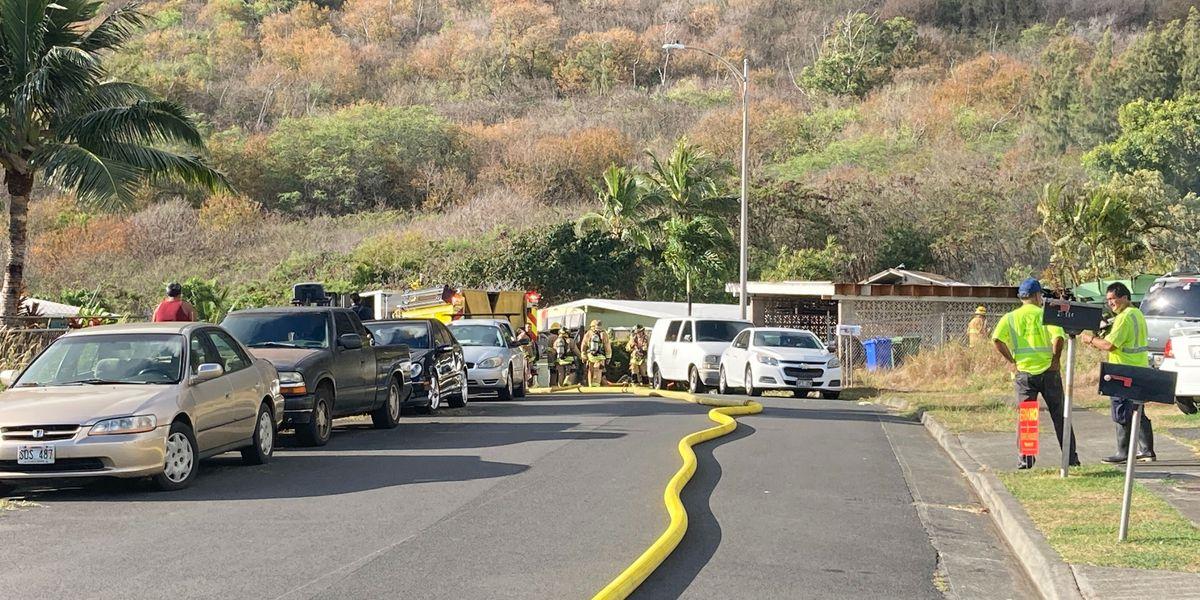 HFD battling 2-alarm blaze in Waimanalo