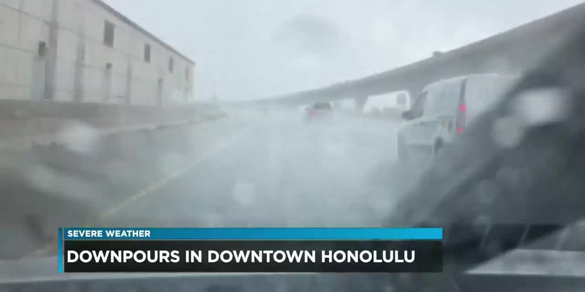 Flash flood warning remains posted for Oahu as severe weather continues