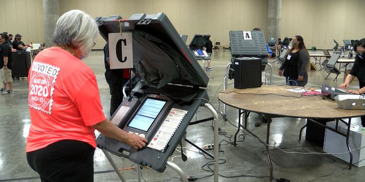 Election officials run tests of ballot machines ahead of the general