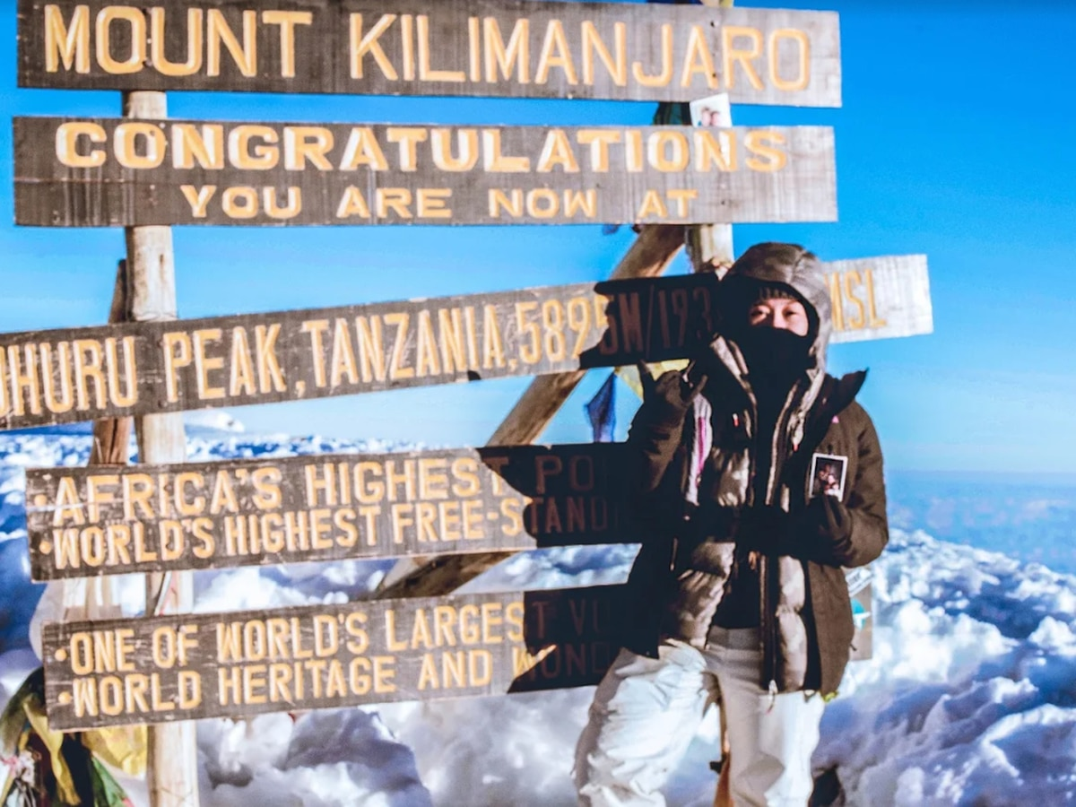 This 22-year-old can cross one off her bucket list: She scaled Mount Kilimanjaro