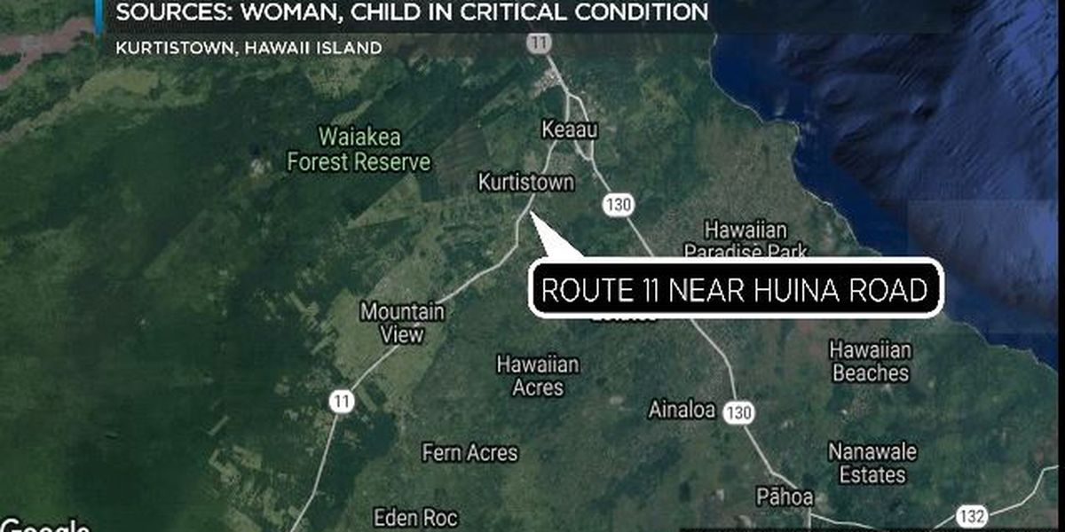 Woman, child critically injured in crash in Kurtistown