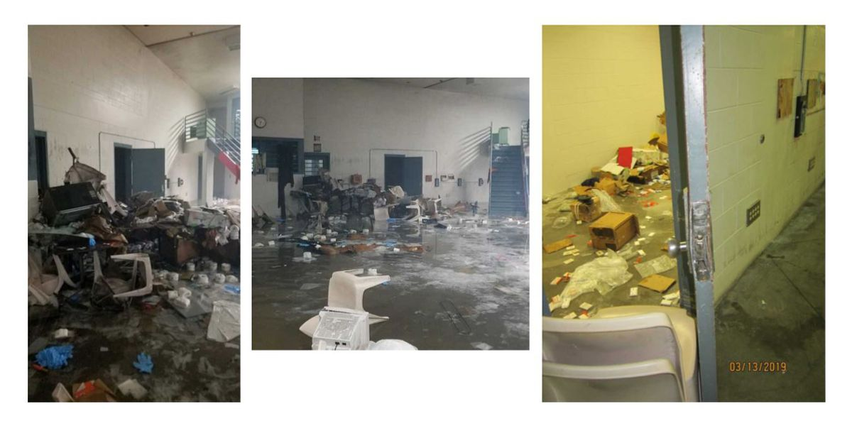 A week after a riot at MCCC, crews are still working to clean up the mess