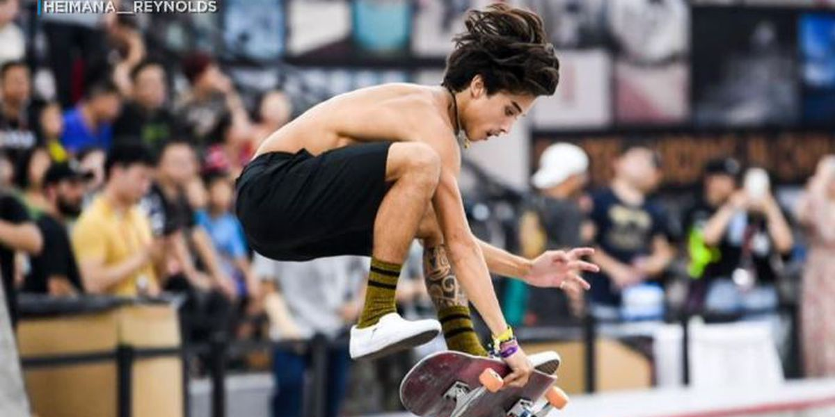 'I'm still going to reach for that goal': Olympic skateboarder Heimana Reynolds still eyes history in 2021 games