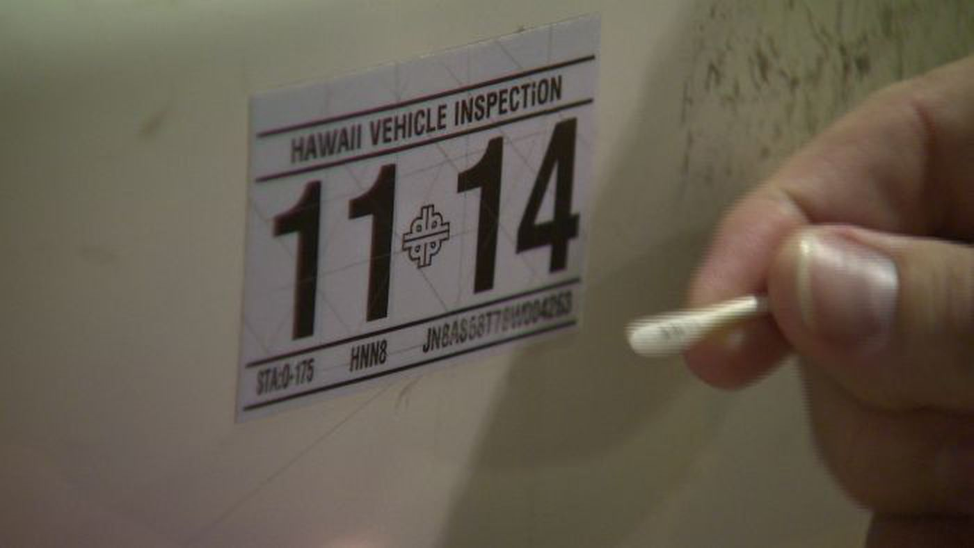 Hawaii Safety Inspection >> Exclusive New Safety Check Stickers Easily Erased Altered