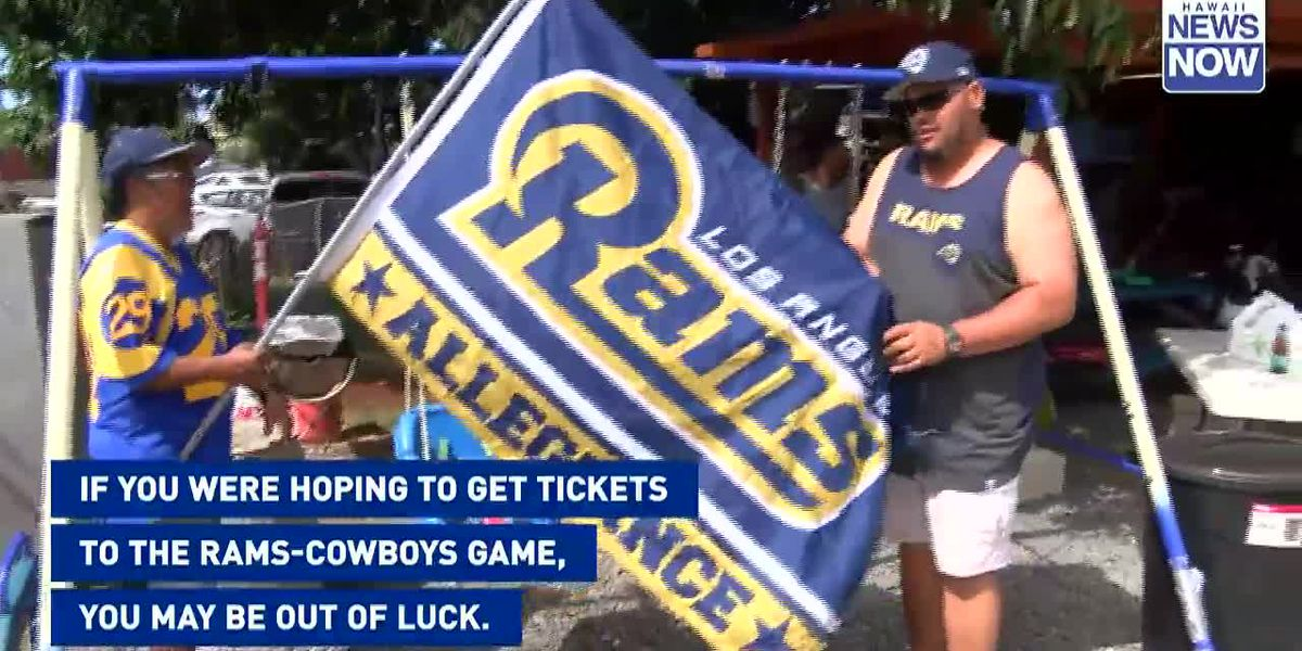 Tickets to much-anticipated Cowboys-Rams game at Aloha Stadium sold out