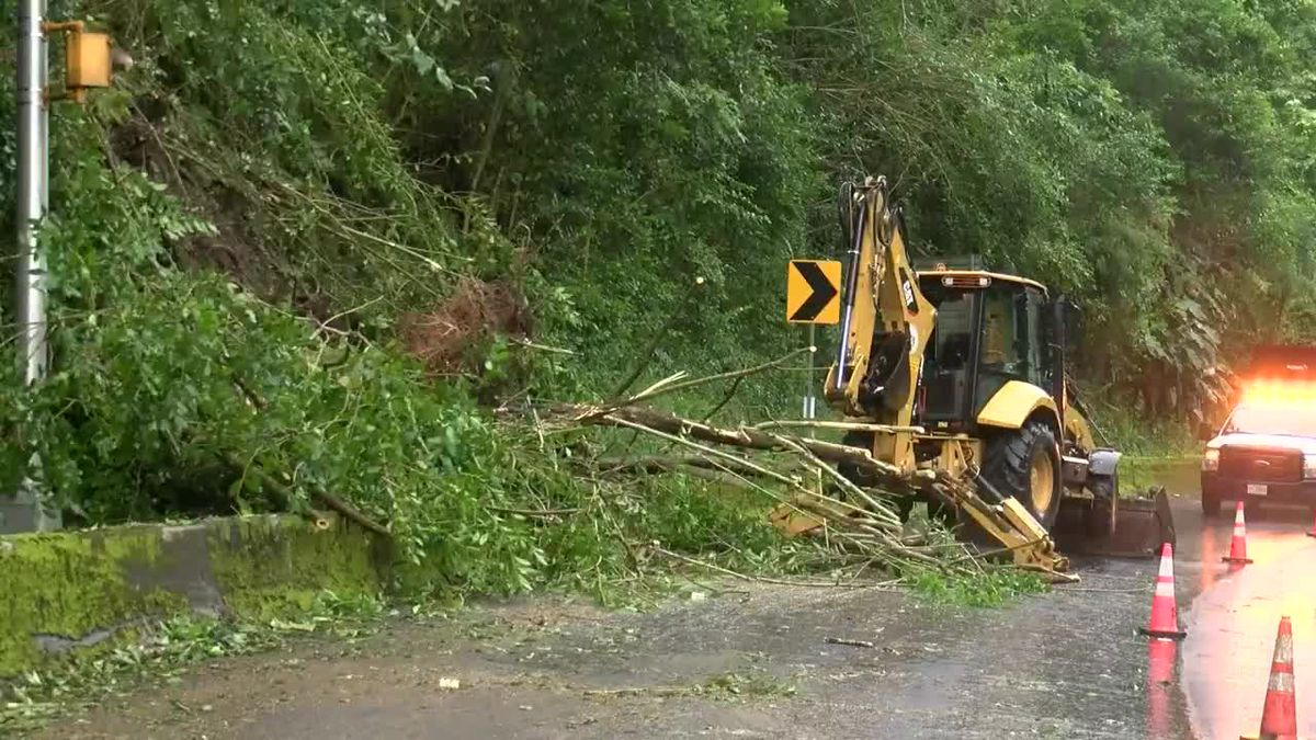 Weekend of wild weather drenches state, causing flooding, mudslides and downed trees.