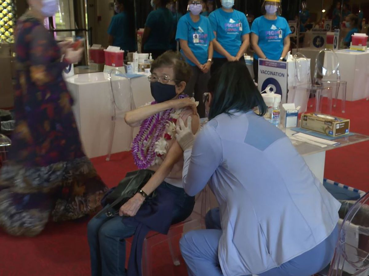 Soft launch held for Blaisdell Concert Hall as a COVID vaccination site