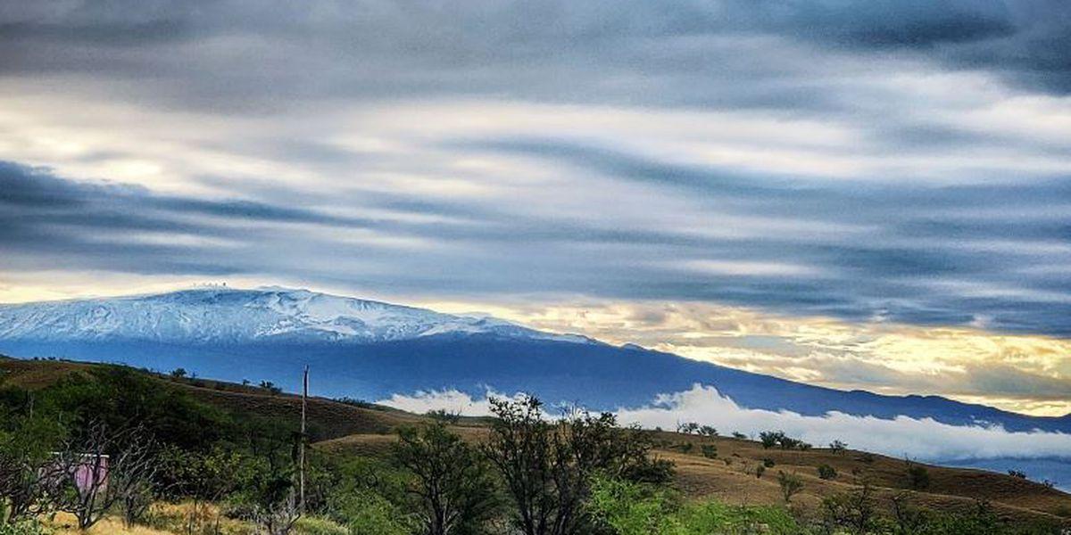 Let it snow! Winter storm drops snow on Haleakala, Big Island summits