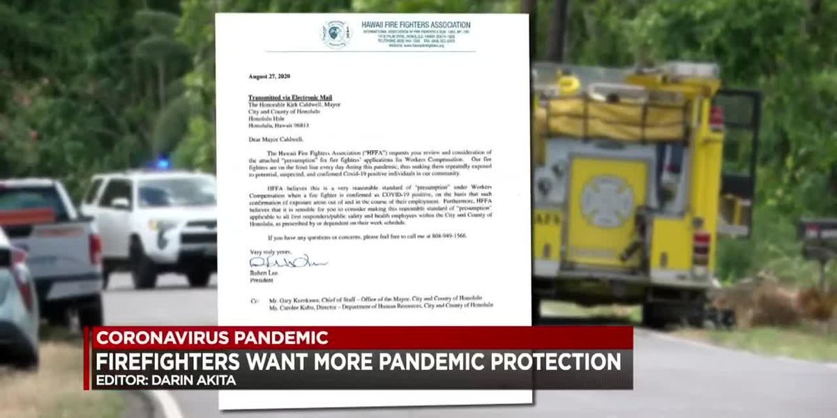Firefighters ask for exception to workers compensation policy during pandemic