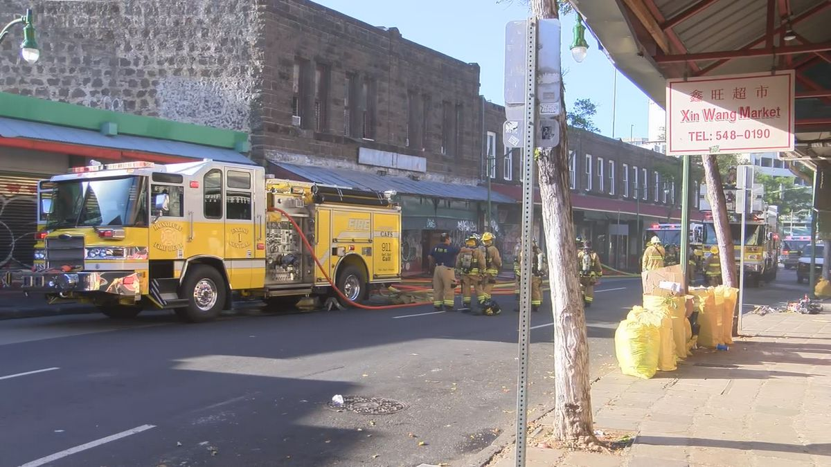 HFD responding to 2-alarm building fire near Chinatown