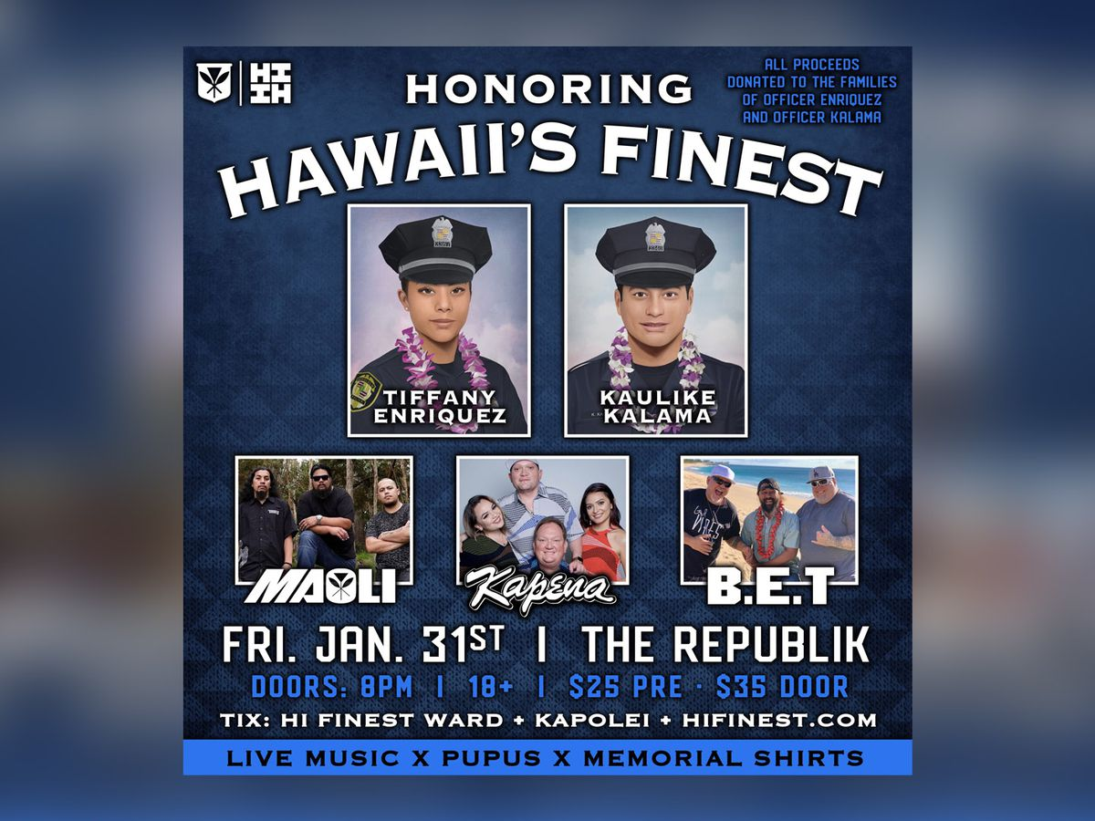 Among the fundraisers for families of the fallen: A concert by 'Hawaii's Finest'