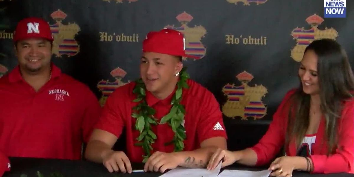 Mililani's Ho'ohuli signs National letter of intent to play for the University of Nebraska
