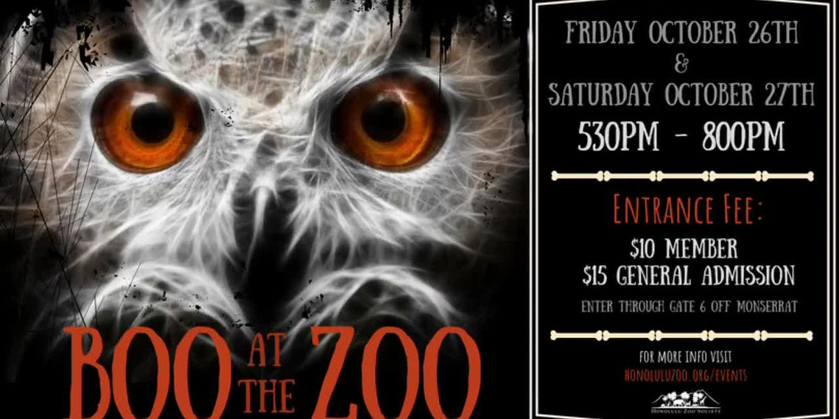 "Honolulu Zoo's ""Boo at the Zoo"" event"