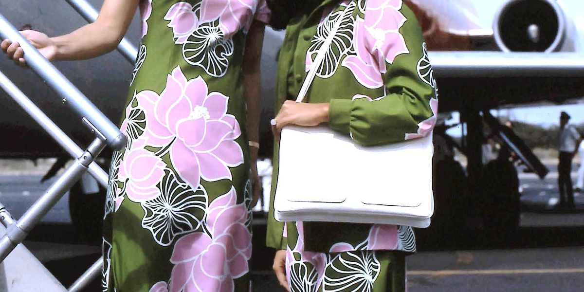 Across the decades, flowers unite Hawaiian's flight attendant uniforms