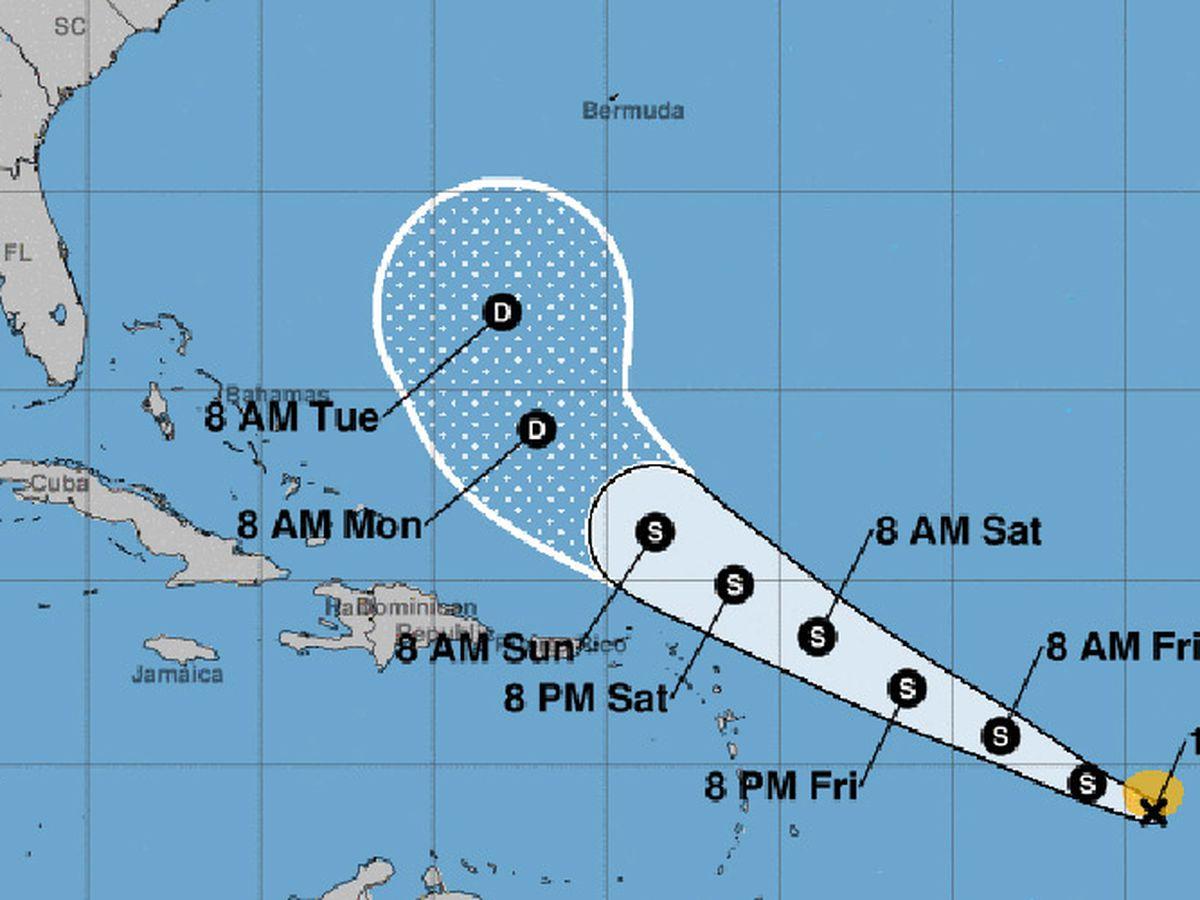 Tropical Storm Josephine forms in Atlantic Ocean