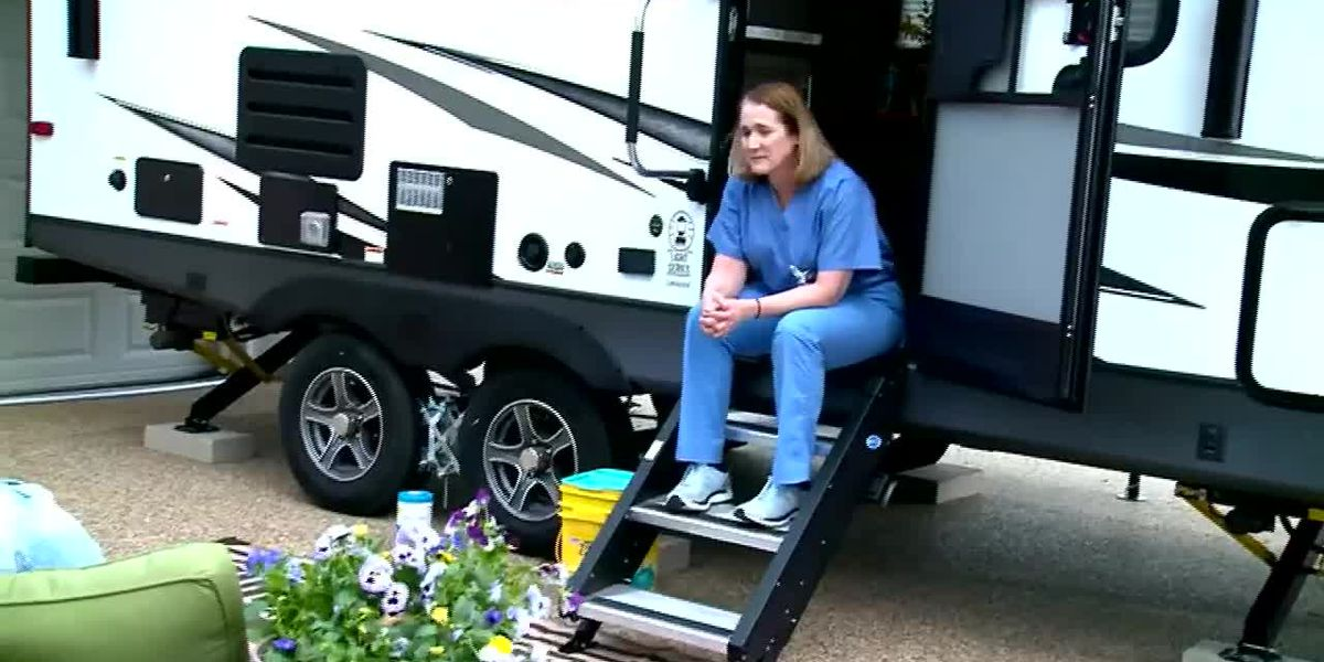 Doctor, husband spend home extension money on camper to protect family from coronavirus
