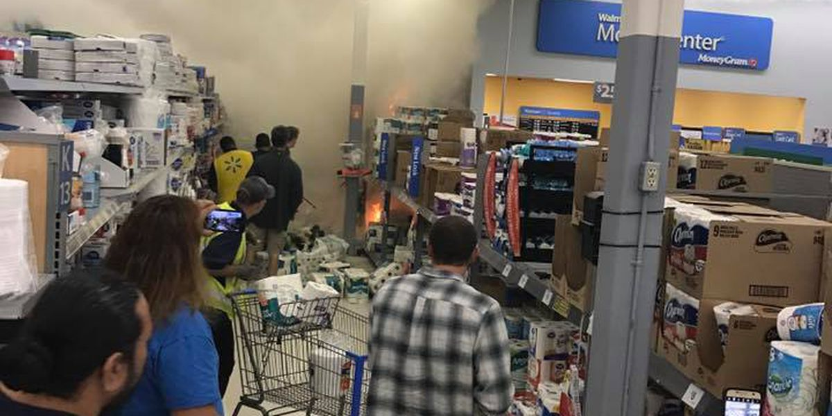 Shoppers evacuated after fire breaks out at Mililani Walmart