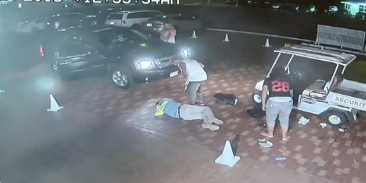 GRAPHIC: Surveillance footage captures brutal beating of Kona security guard