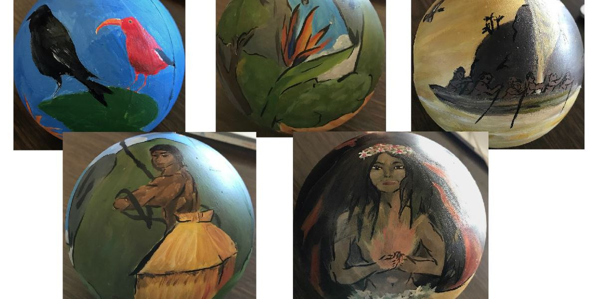 These ornaments made by Maui students will represent Hawaii on the nation's Christmas tree
