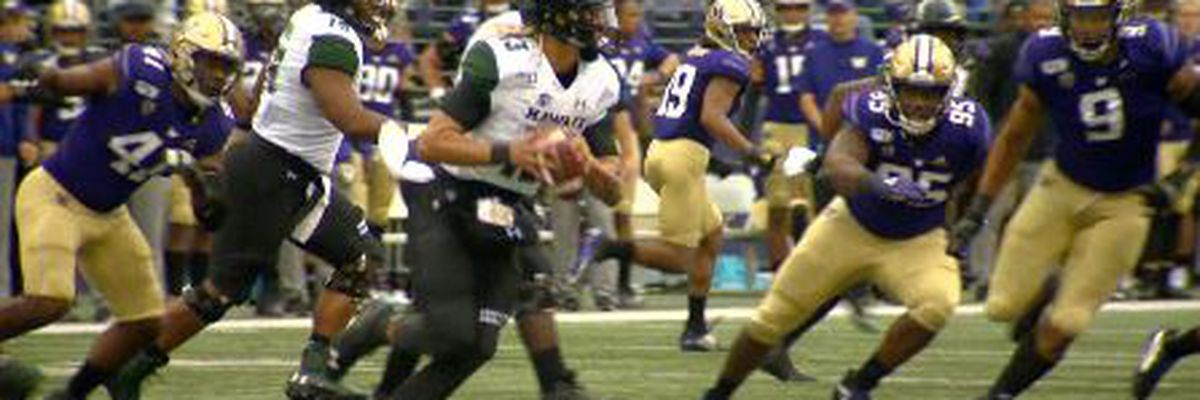Pac-12 power Washington floods Rainbow Warriors in 52-20 drubbing
