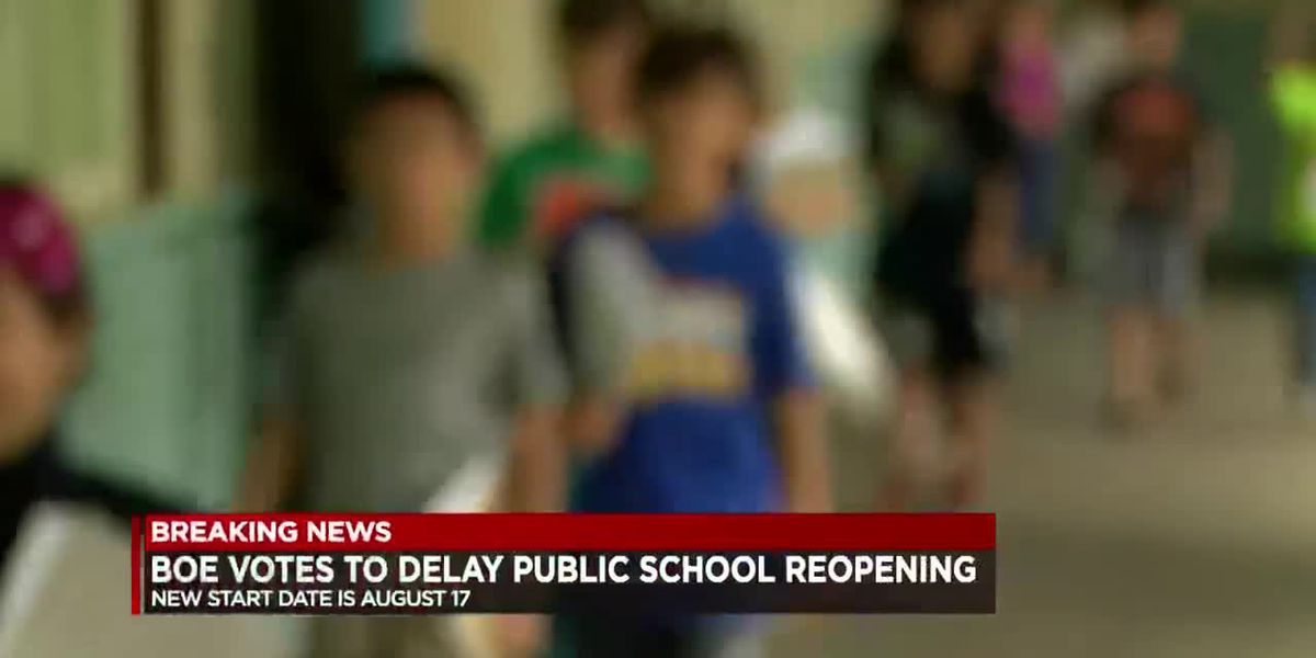 Board of Education votes to delay reopening of public schools until Aug. 17