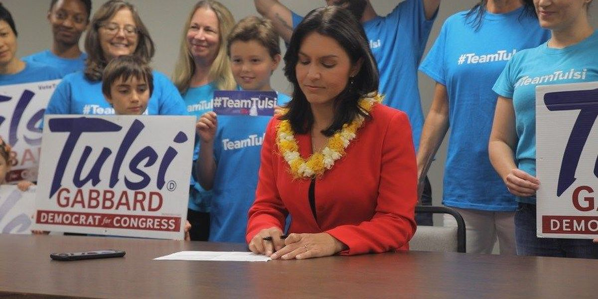 Gabbard officially files for re-election, hoping to continue 'fighting for the people'