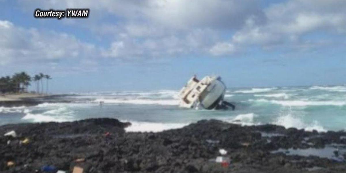 Fierce winter storm grounds boats across Hawaii