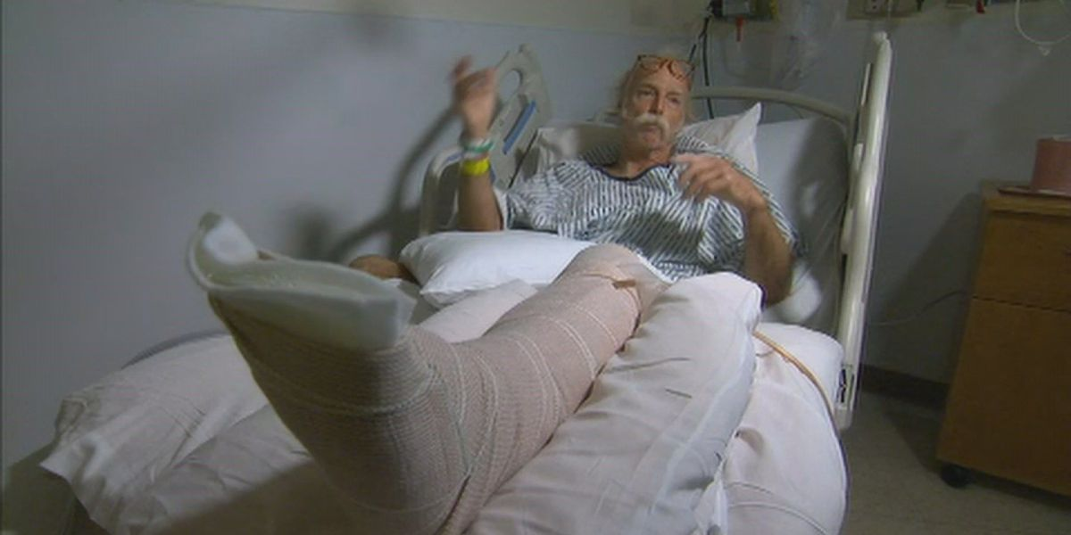 After 'lava bomb' hit him, Big Island man feared for his life