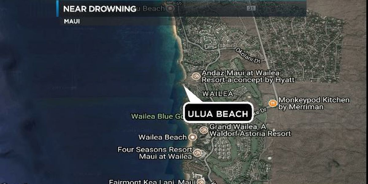 California man nearly drowns while snorkeling off South Maui