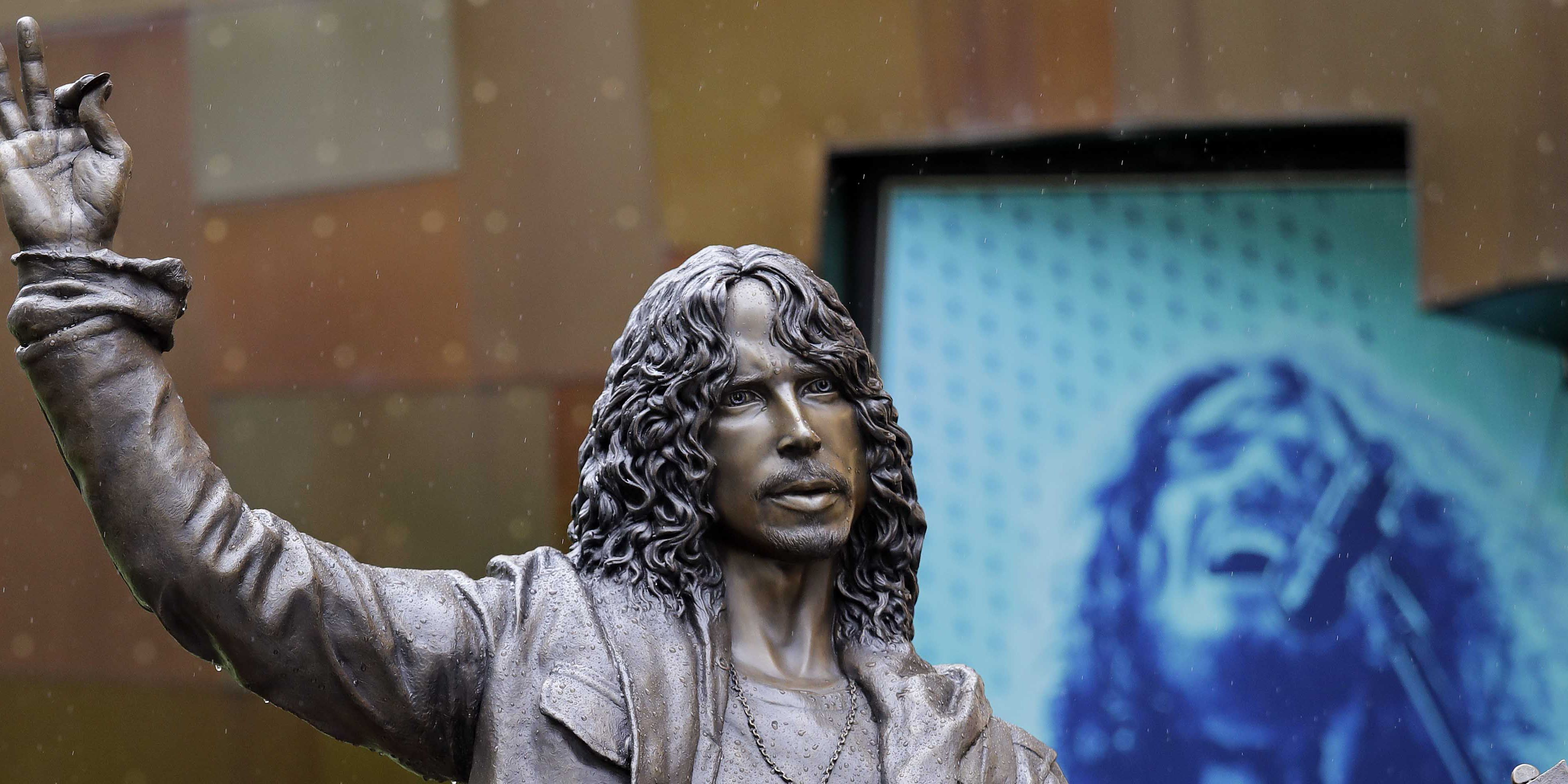 Life-size Chris Cornell statue unveiled in Seattle