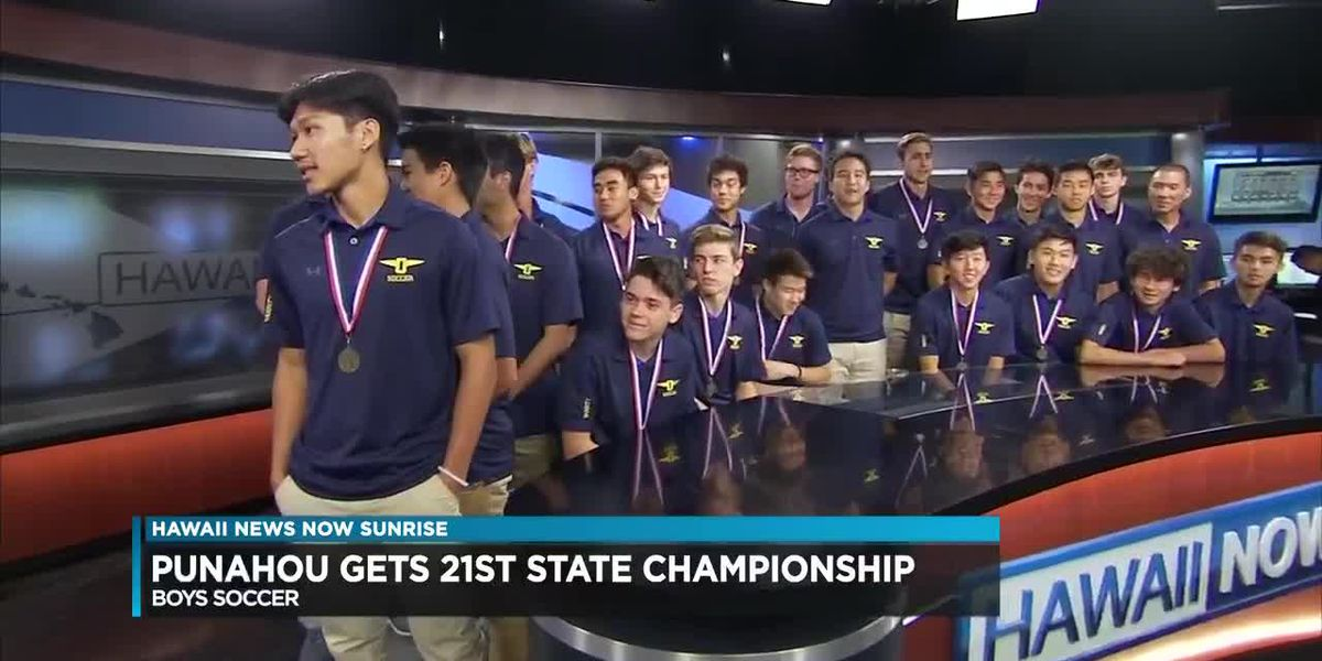 Punahou boys soccer team remains state champs for third year