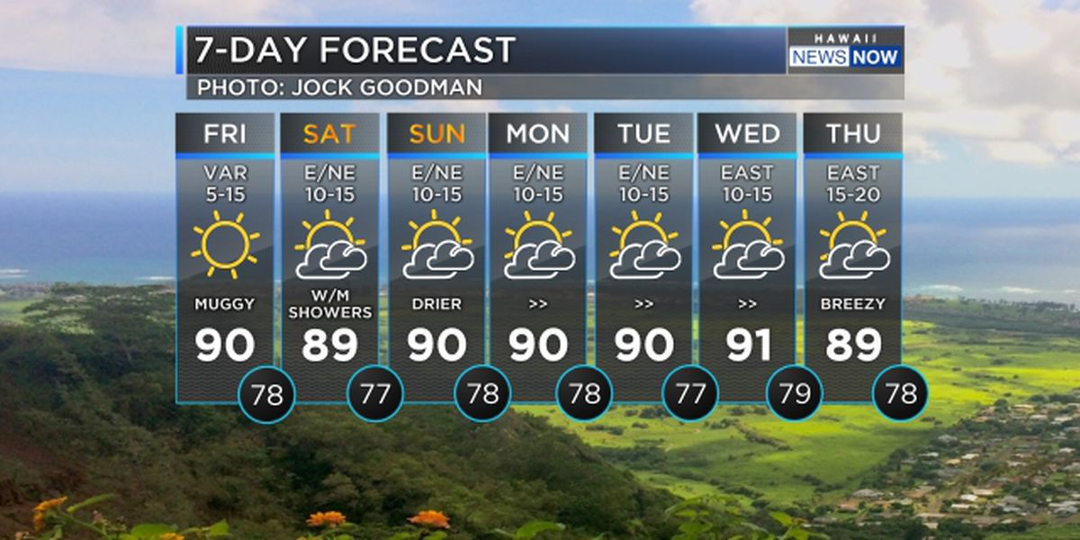 Forecast: Hot and humid today, more comfortable conditions due over the weekend
