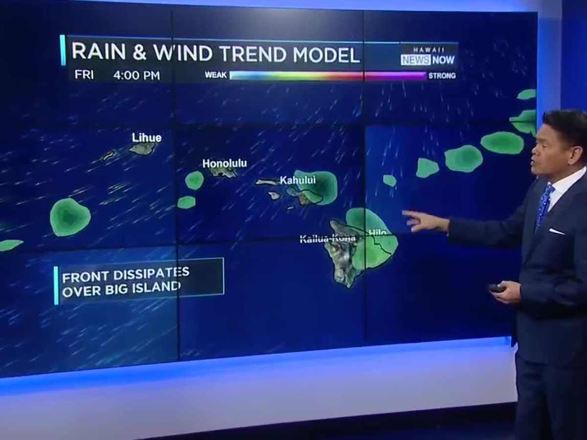 Forecast: A brief return of trade winds for the weekend