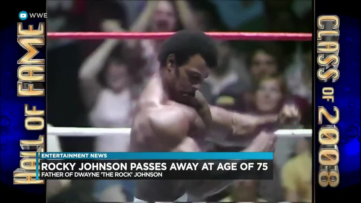 """Entertainment: Rocky Johnson, son of Dwayne """"The Rock"""" Johnson dies at age 75"""