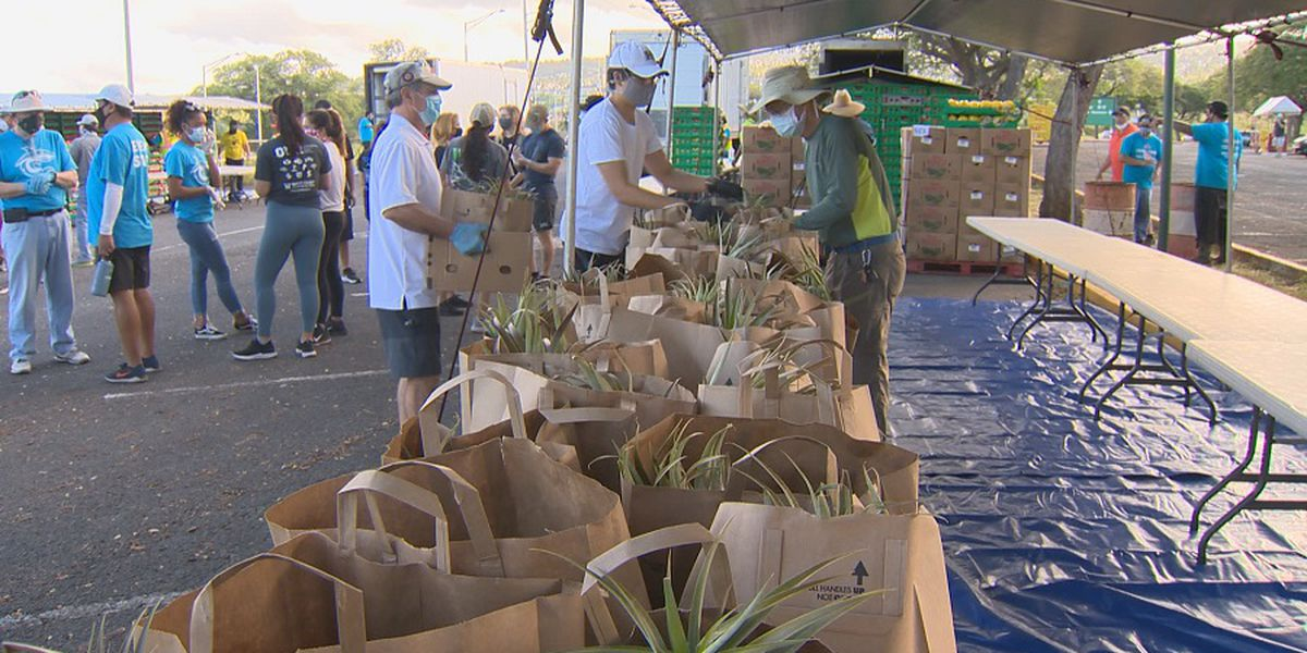 Second food distribution at Aloha Stadium to help thousands in need