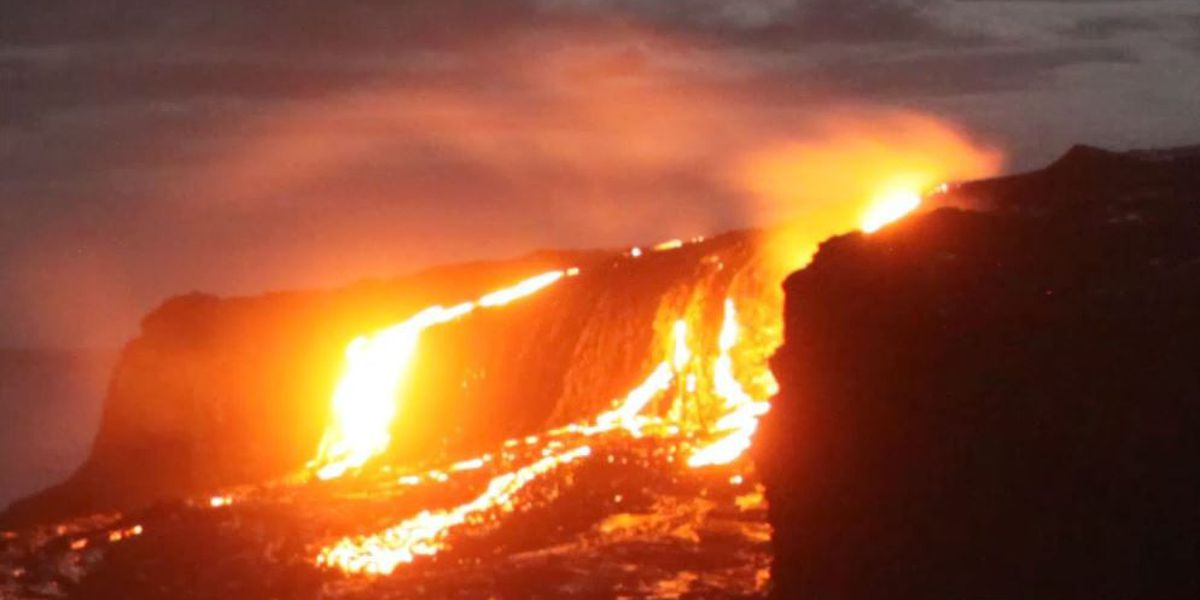 New lava time lapse video reveals stunning 'lava falls' at Kamokuna
