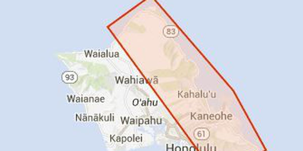 Flood Advisory posted for portions of Oahu